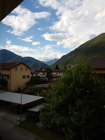 הנוף מהמרפסת הפרטית